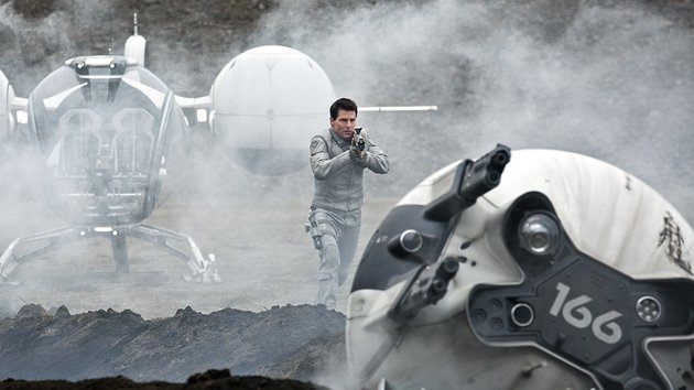 Go see Oblivion in the cinema; the stunts are incredible