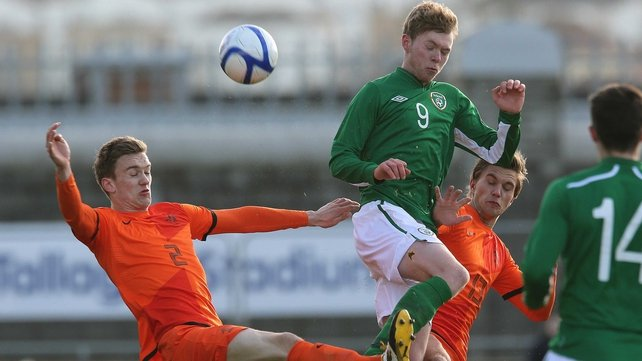 Aiden O'Brien hit a brace when Ireland beat a weakened Dutch U-21 side in February