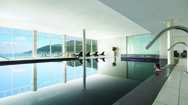The Slieve Donard spa is divided into two levels
