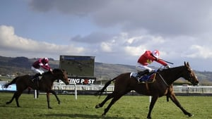 Sam Twiston-Davies and The New One wins the Neptune Novices' Hurdle from Rule The World in 2013