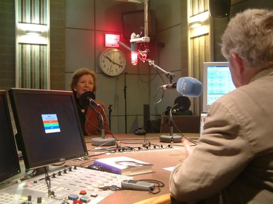 Mary Robinson, talking to John Bowman