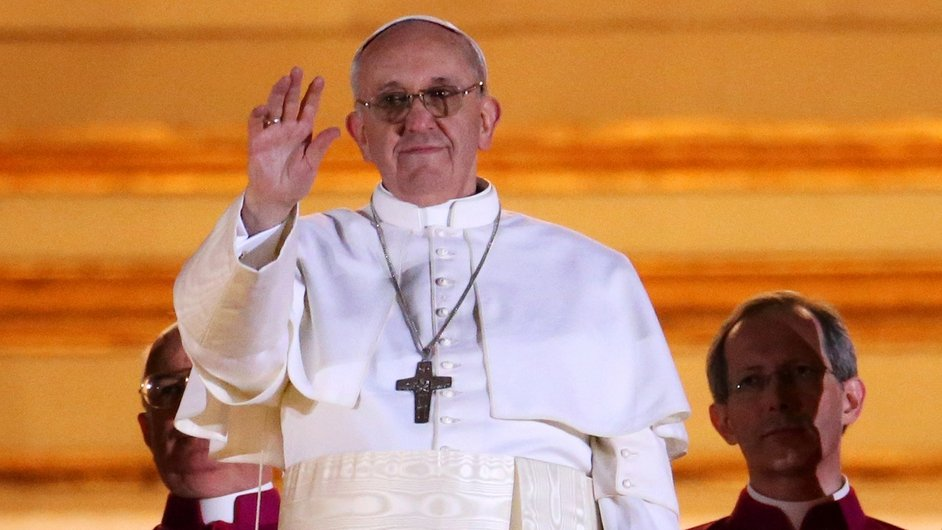 Argentine Cardinal Jorge Mario Bergoglio, who chose the name Pope Francis, greeted crowds to huge cheers