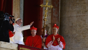 """He delivered his first blessing to the huge crowd in St Peter's Square, asking for the prayers of """"all men and women of good will"""" to help him lead the Catholic Church"""
