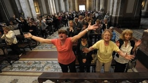 Faithful react to the news in Buenos Aires. Pope Francis is the church's first Latin American pontiff