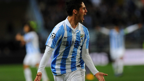 Isco put Malaga on the way to the quarter-finals
