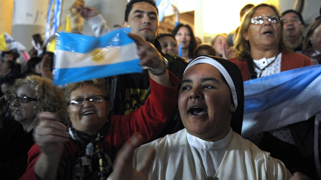 Locals celebrate election of Pope Francis in Buenes Aires