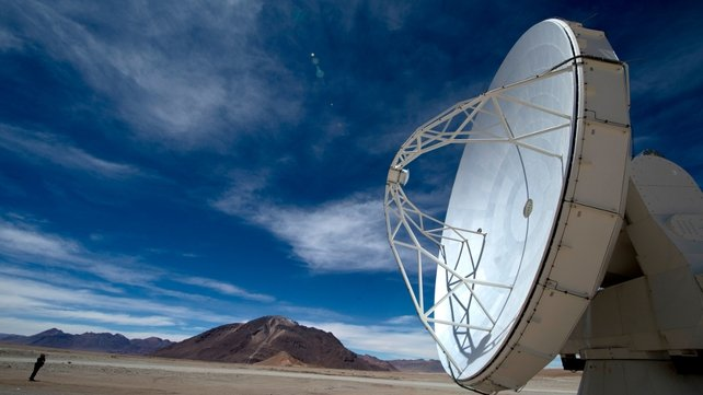 The telescope is located some 1,500km north of Santiago