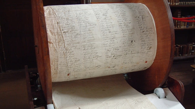 The Morpeth Roll was signed by over 160,000 people across Ireland
