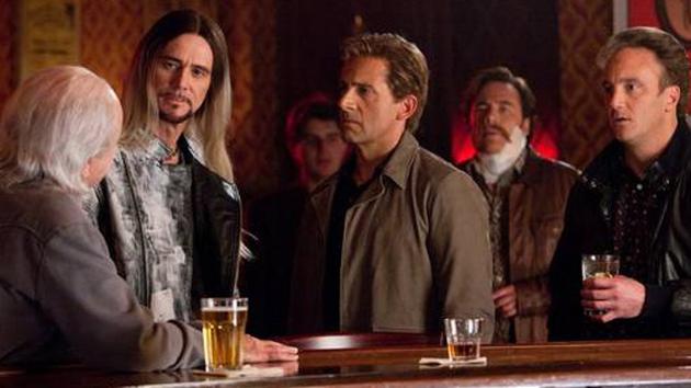 Rance Holloway (Alan Arkin) Steve Gray (Jim Carrey) and Burt Wonderstone (Steve Carell)