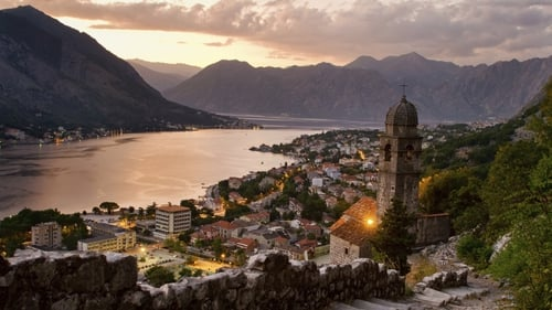 The town of Kotor on the Mediterranean coast of Montenegro