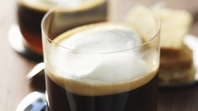Nespresso Irish coffee with shortbreads