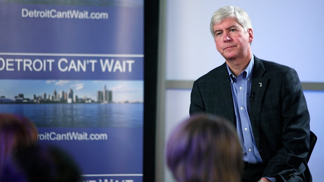 Michigan Governor Rick Snyder appointed a bankruptcy expert to run Detroit
