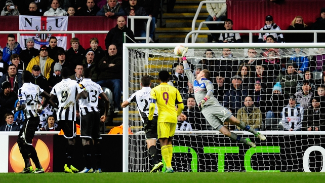 Newcastle overcame Anzhi Makhachkala last night