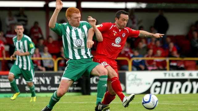 Sligo and Bray played out a 1-1 draw the last time the sides met at The Showgrounds