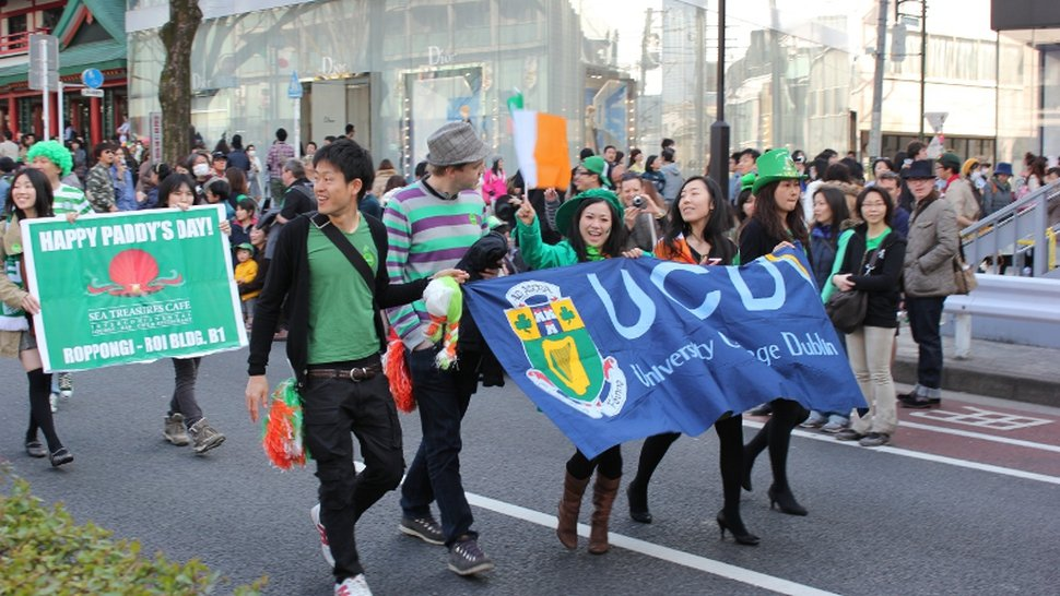 RTÉ's Micheal Mac Suibhne sent this image of the parade in Tokyo