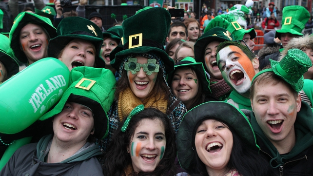Spirits were high in Dublin despite the cold and wet weather