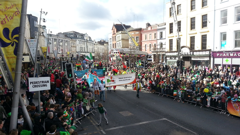 The Cork parade attracted a large crowd (Pic: Grace Bergin)