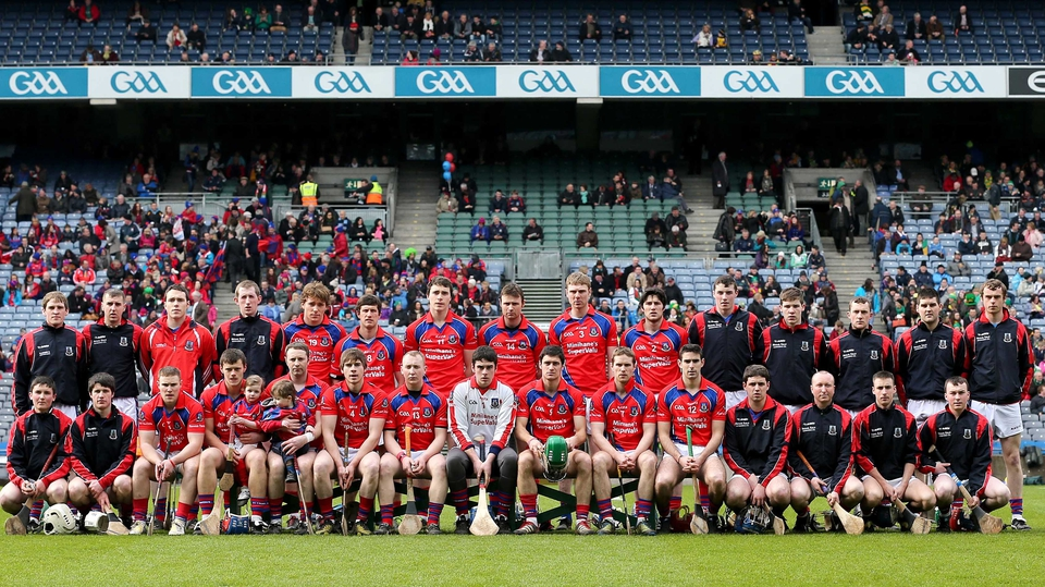 The St Thomas' panel ahead of the hurling final