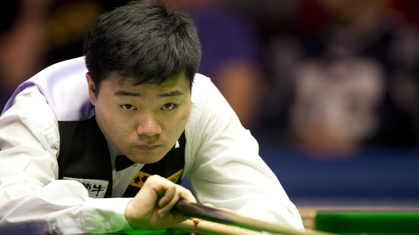 Ding Junhui battled past Peter Ebdon