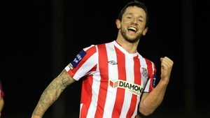 Rory Patterson scored Derry's second goal at the Brandywell
