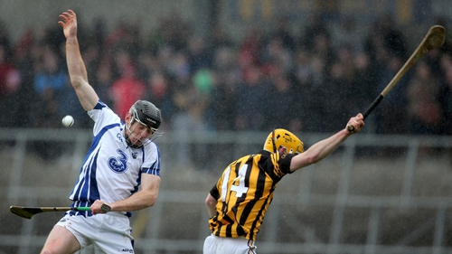 Kevin Moran of Waterford and Kilkenny's Colin Fennelly in action today