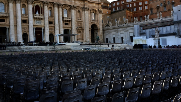 Hundreds of thousands of people are expected to fill St Peter's Square for the inaugural mass