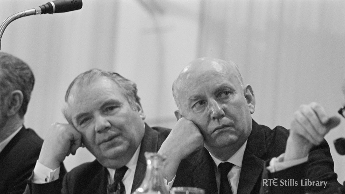 Who are these two Fianna Fáil members at the Ard Fheis 1972?