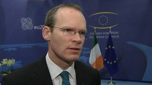 Simon Coveney said he was confident that the backing of MEPs could be secured