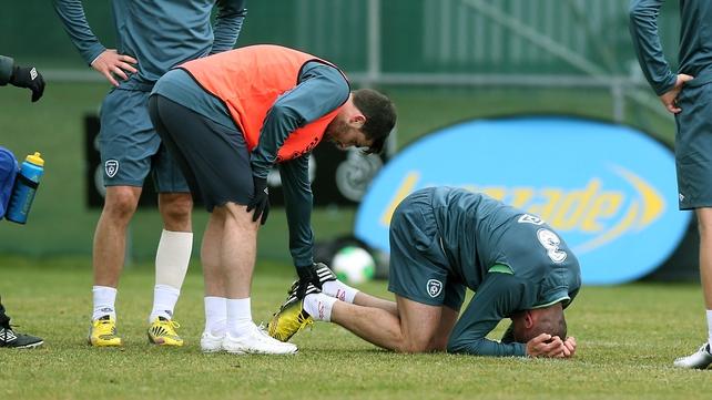 Jon Walters injured in training this morning