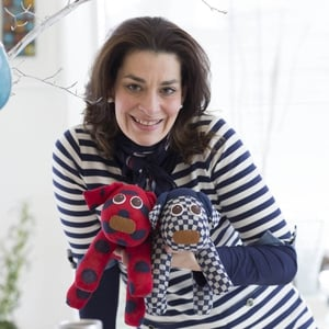 Christina Sanne and her Red Rufus SockDogs