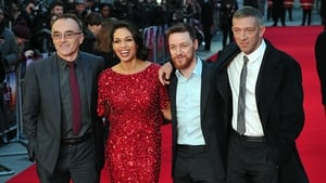 (l to r) Danny Boyle, Rosario Dawson, James McAvoy and Vincent Cassel