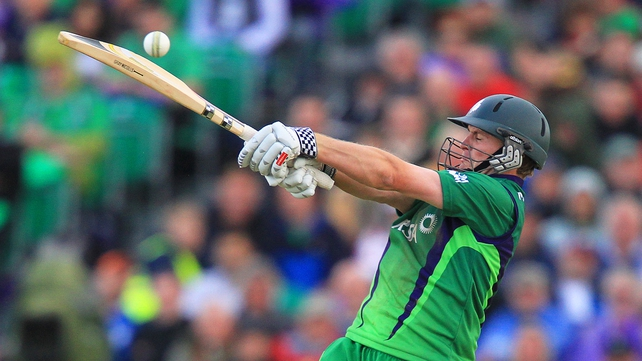 William Porterfield top-scored for Ireland with 77 runs