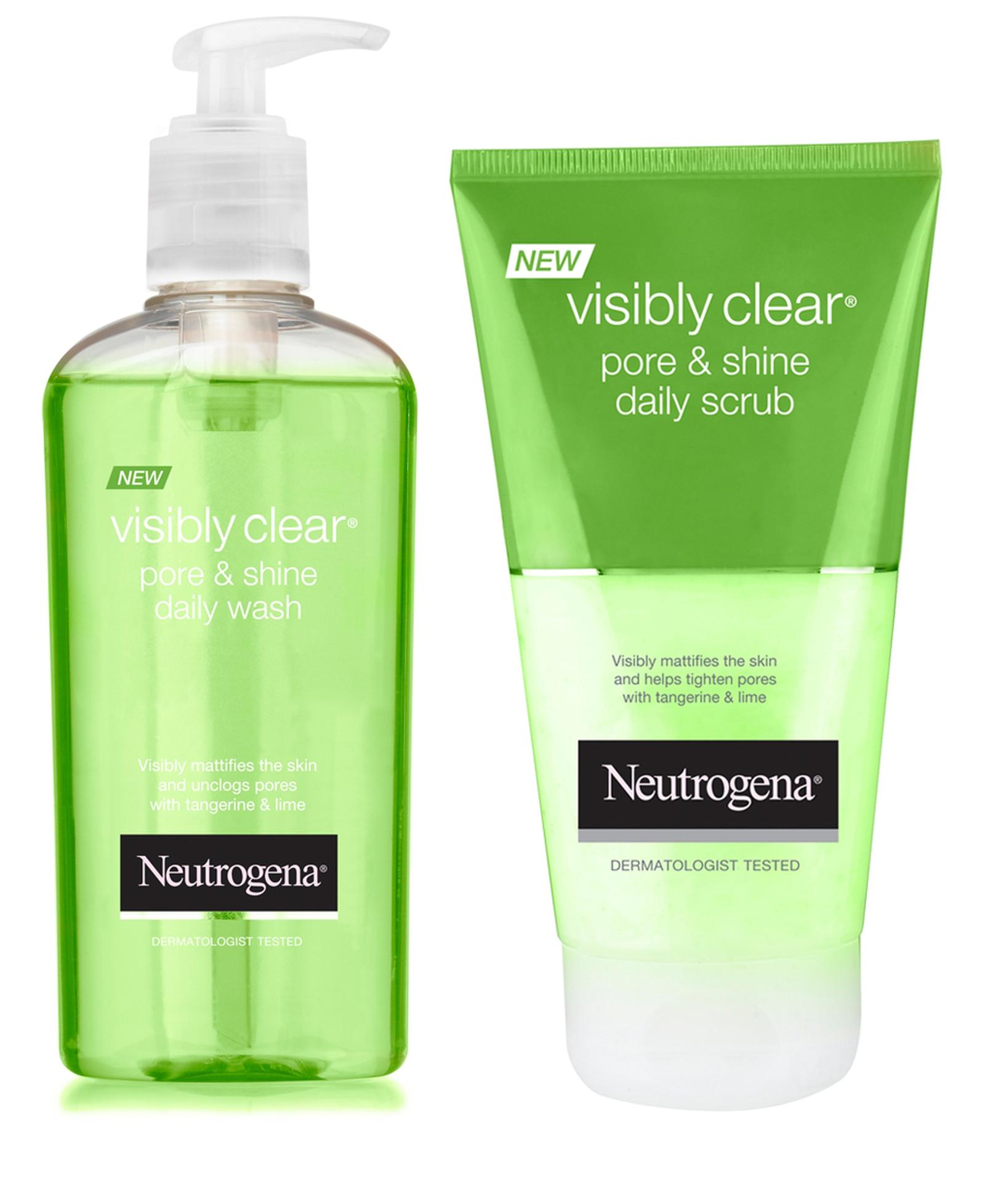 Neutrogena Visibly Clear Pore & Shine range