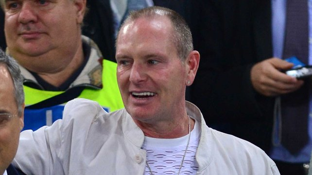 Paul Gascoigne spent a month in rehab