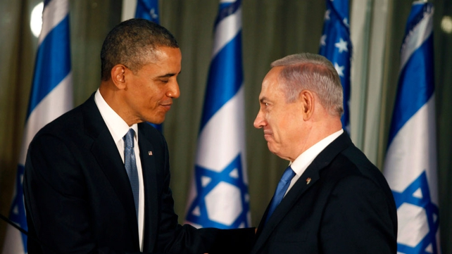 The mood between Mr Obama and Benjamin Netanyahu appeared warm