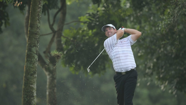 Padraig Harrington is four shots off the lead