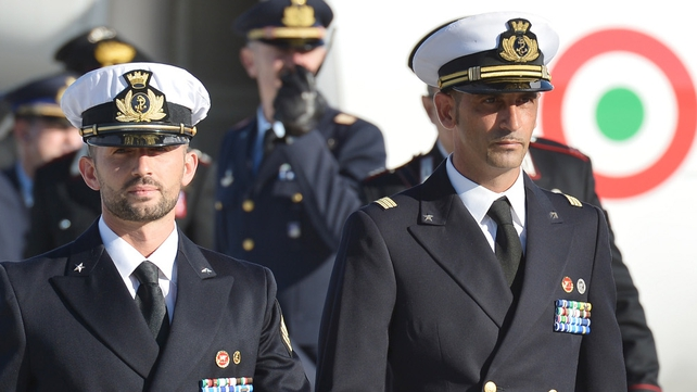 Salvatore Girone (L) and Massimiliano Latorre could serve sentences in Italy if convicted