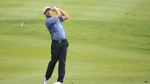 Padraig Harrington has been frustrated with the weather delay