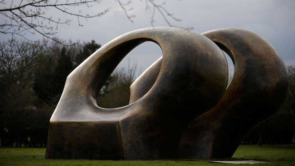 Henry Moore's sculpture 'Double Oval' at The Henry Moore Foundation in Perry Green, England