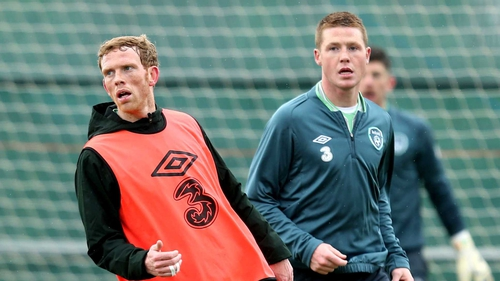 James McCarthy and Paul Green will be paired in the Ireland midfield