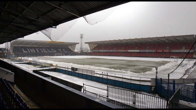 The Windsor Park pitch was clearly unplayable, despite two attempts to stage the World Cup qualifier with Russia