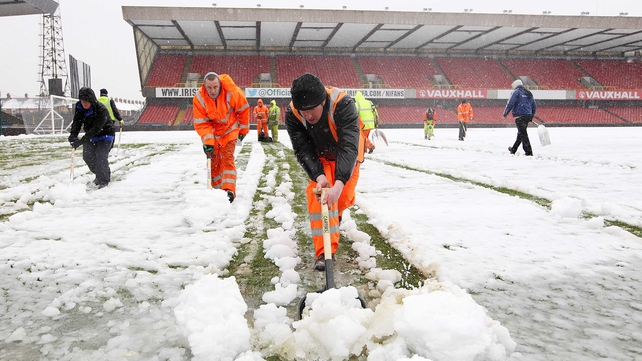 Attempts to get the Windsor Park pitch ready in time were unsuccessful