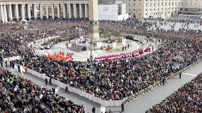 Tens of thousands attended open-air mass in Rome