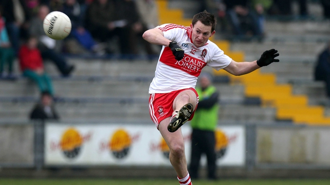 James Kielt goaled for Derry in Drogheda