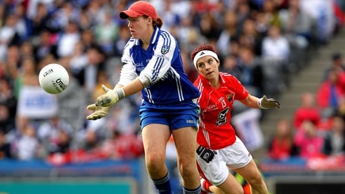 Linda Martin was on the scoresheet as Monaghan defeated Laois