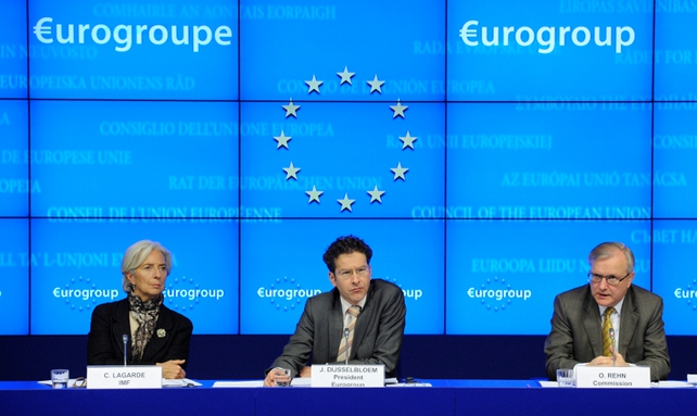 IMF's Christine Lagarde, Eurogroup president Jeroen Dijsselbloem and Commissioner Olli Rehn were involved in the negotiations