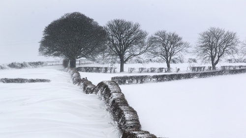 Large parts of Down and Antrim have been hit by heavy snow