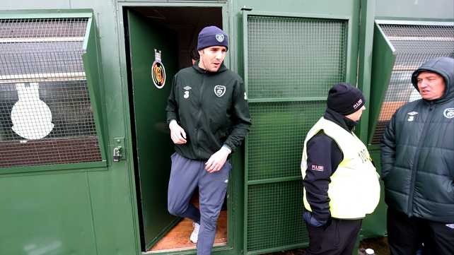 A bitter wind chill meant John O'Shea and his Republic of Ireland team-mates experienced conditions s