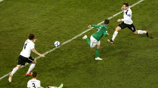 Shane Long hit the post with a back heel in a lively first half