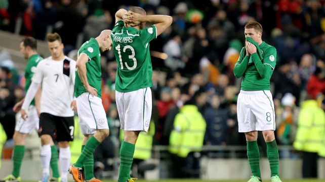 Irish pain is evident after the late equaliser
